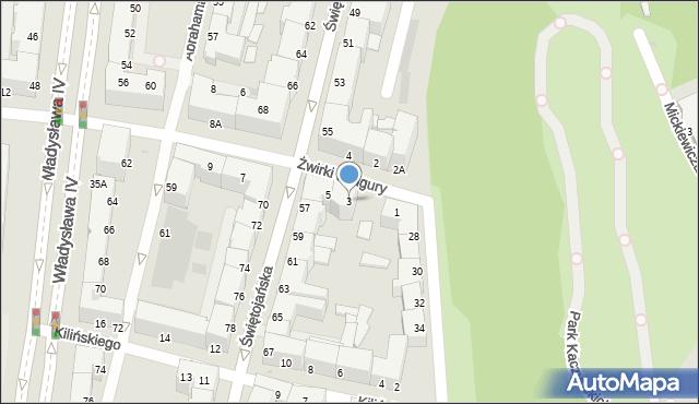 Gdynia, Franciszka Żwirki i Stanisława Wigury, 3, mapa Gdyni