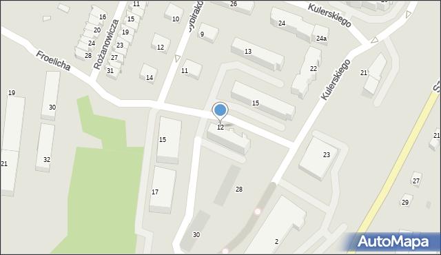 Grudziądz, Froelicha Ksawerego, 12, mapa Grudziądza