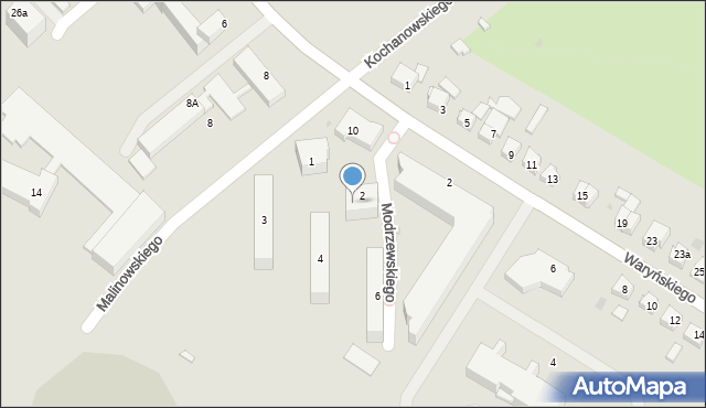 Grudziądz, Frycza-Modrzewskiego Andrzeja, 2, mapa Grudziądza