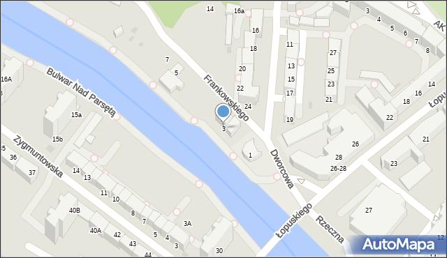 Kołobrzeg, Frankowskiego Jana, 3, mapa Kołobrzegu