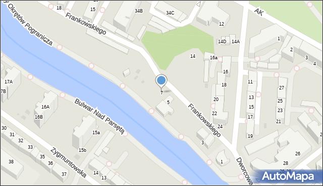 Kołobrzeg, Frankowskiego Jana, 7, mapa Kołobrzegu
