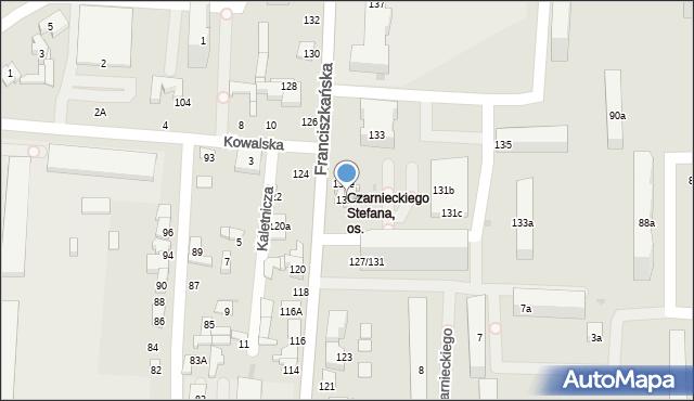 Łódź, Franciszkańska, 131a, mapa Łodzi
