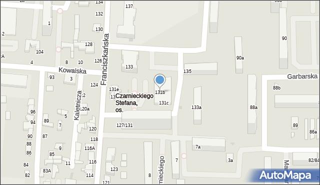 Łódź, Franciszkańska, 131b, mapa Łodzi