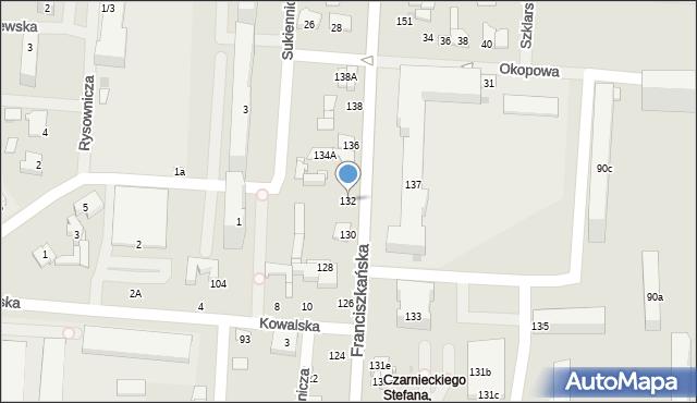 Łódź, Franciszkańska, 132, mapa Łodzi