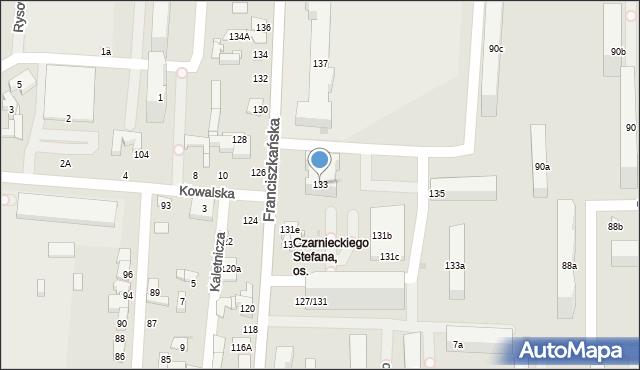 Łódź, Franciszkańska, 133, mapa Łodzi