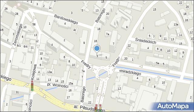 Rzeszów, Fredry Aleksandra, 1, mapa Rzeszów