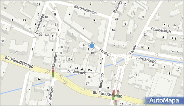 Rzeszów, Fredry Aleksandra, 10, mapa Rzeszów