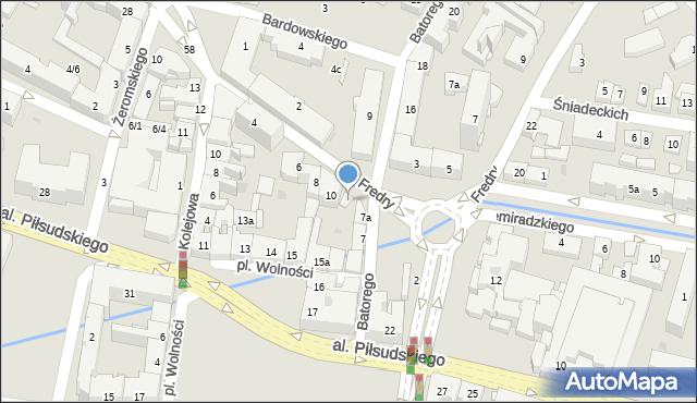 Rzeszów, Fredry Aleksandra, 10a, mapa Rzeszów