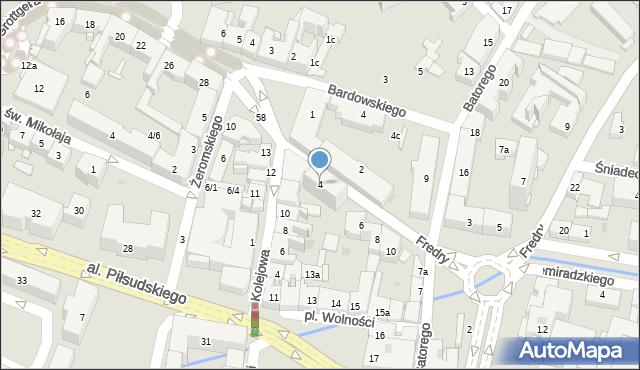 Rzeszów, Fredry Aleksandra, 4, mapa Rzeszów