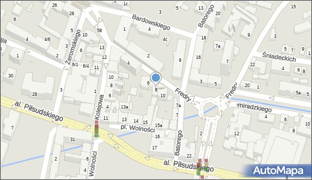 Rzeszów, Fredry Aleksandra, 8, mapa Rzeszów