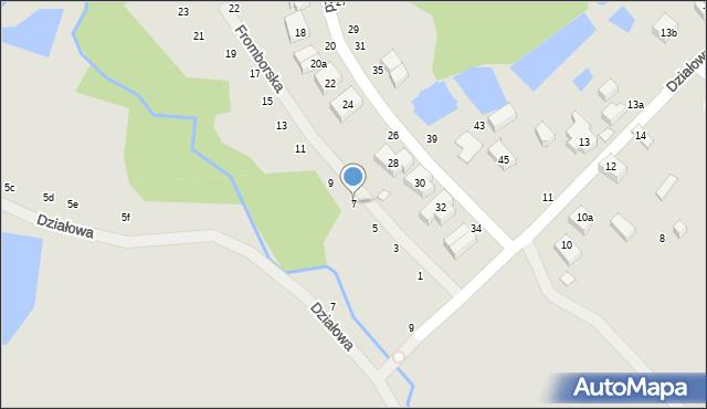 Toruń, Fromborska, 7, mapa Torunia