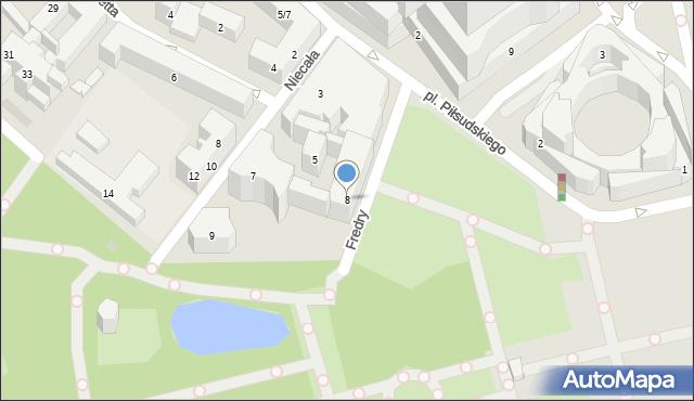 Warszawa, Fredry Aleksandra, 8, mapa Warszawy