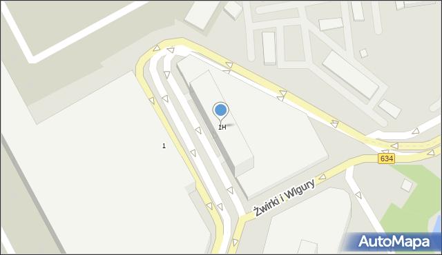 Warszawa, Franciszka Żwirki i Stanisława Wigury, 1H, mapa Warszawy