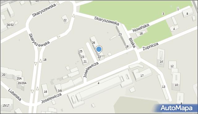 Warszawa, Frycza-Modrzewskiego Andrzeja, 22, mapa Warszawy