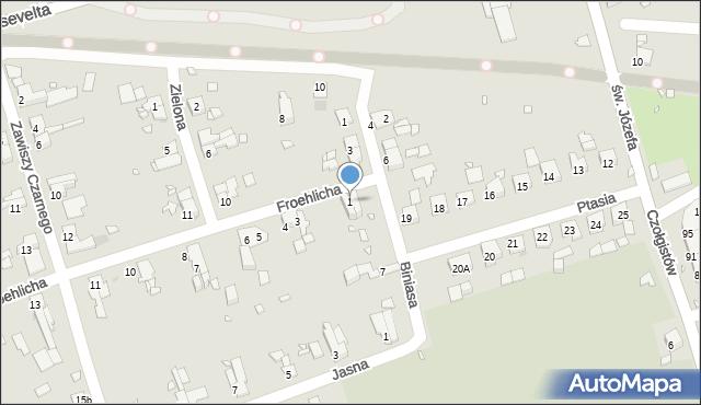 Zabrze, Froehlicha Józefa, 1, mapa Zabrza