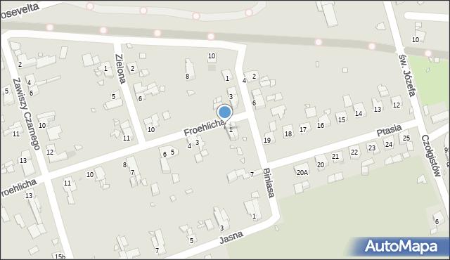 Zabrze, Froehlicha Józefa, 2, mapa Zabrza