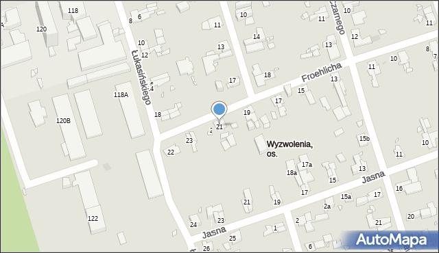 Zabrze, Froehlicha Józefa, 21, mapa Zabrza