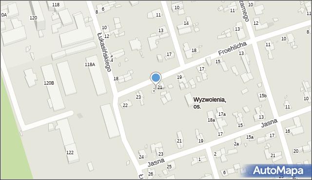 Zabrze, Froehlicha Józefa, 22, mapa Zabrza