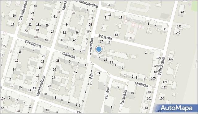Bytom, Gallusa Józefa, 17, mapa Bytomia