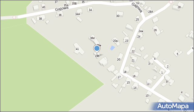Bytom, Gajowa, 19b, mapa Bytomia