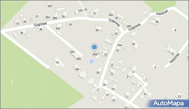 Bytom, Gajowa, 20a, mapa Bytomia