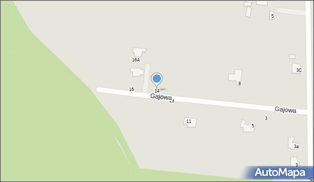 Chełm, Gajowa, 14, mapa Chełma