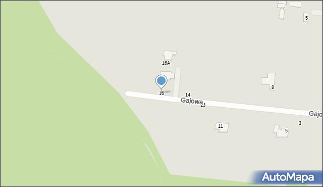 Chełm, Gajowa, 16, mapa Chełma