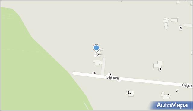 Chełm, Gajowa, 16A, mapa Chełma