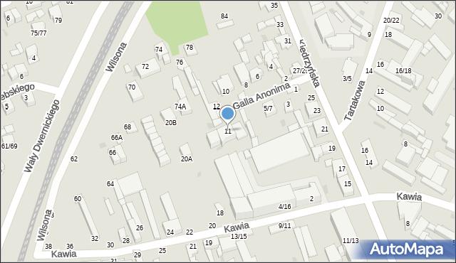 Częstochowa, Galla, 11, mapa Częstochowy