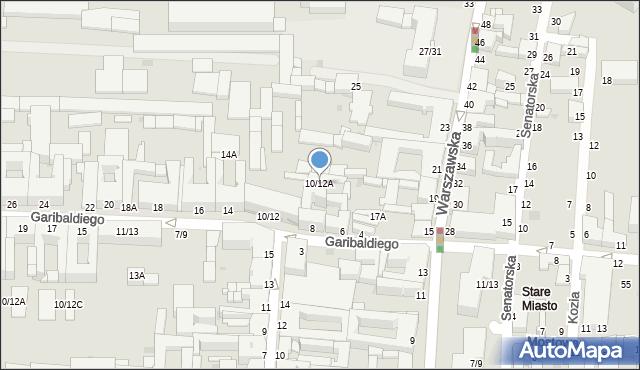 Częstochowa, Garibaldiego, 10/12A, mapa Częstochowy