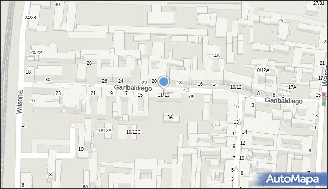 Częstochowa, Garibaldiego Giuseppe, 11/13, mapa Częstochowy