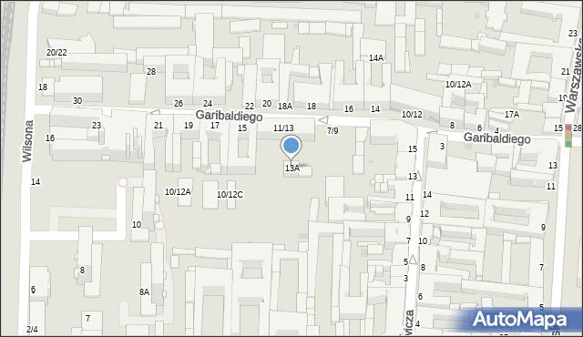 Częstochowa, Garibaldiego Giuseppe, 13A, mapa Częstochowy