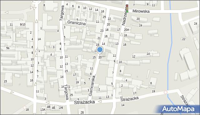 Częstochowa, Garncarska, 10, mapa Częstochowy