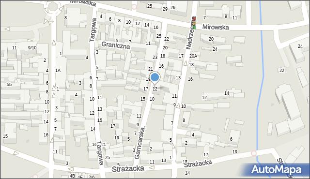 Częstochowa, Garncarska, 12, mapa Częstochowy