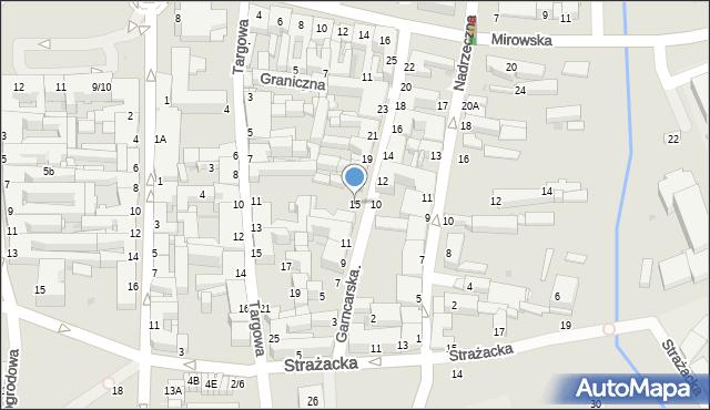 Częstochowa, Garncarska, 15, mapa Częstochowy