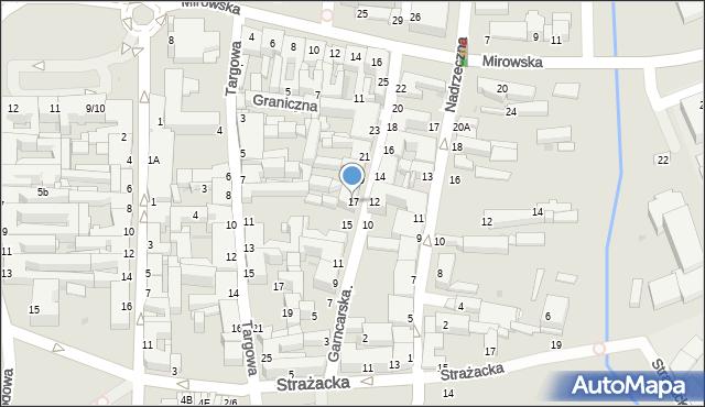 Częstochowa, Garncarska, 17, mapa Częstochowy