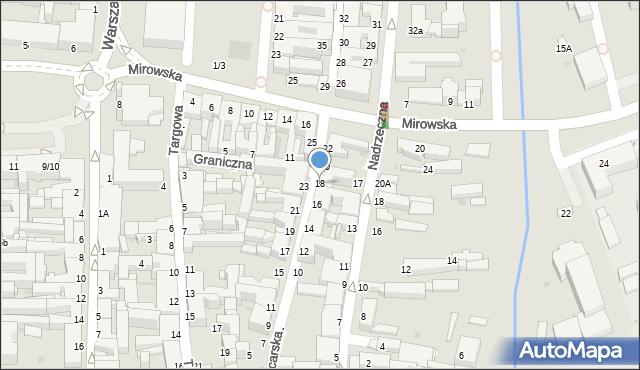 Częstochowa, Garncarska, 18, mapa Częstochowy