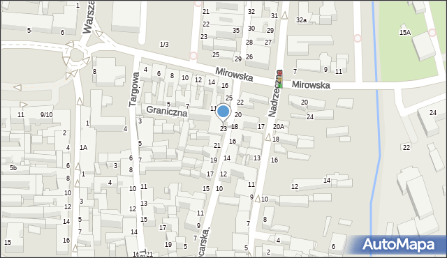 Częstochowa, Garncarska, 23, mapa Częstochowy