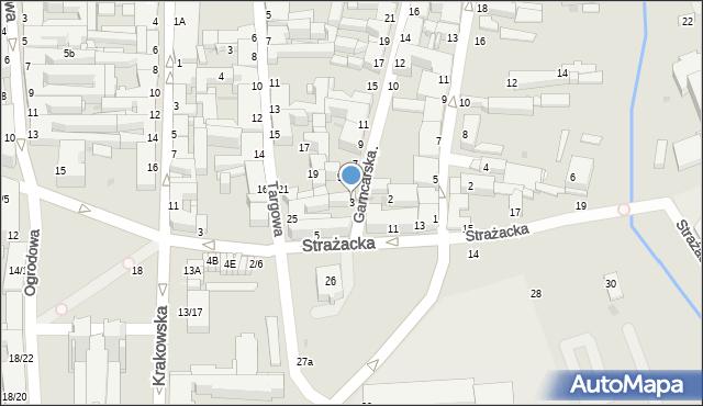 Częstochowa, Garncarska, 3, mapa Częstochowy