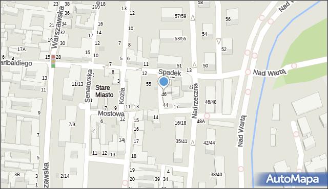 Częstochowa, Garncarska, 46, mapa Częstochowy