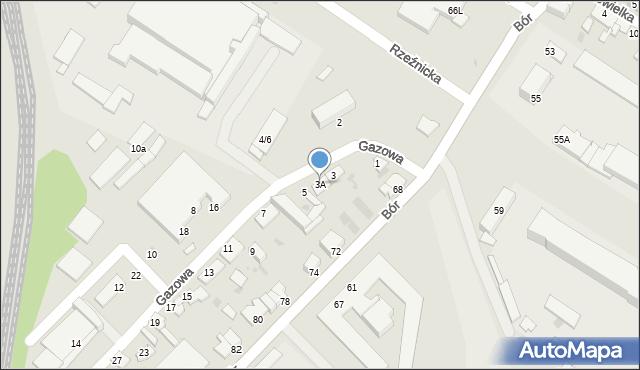 Częstochowa, Gazowa, 3A, mapa Częstochowy