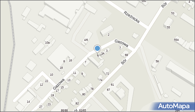 Częstochowa, Gazowa, 5, mapa Częstochowy