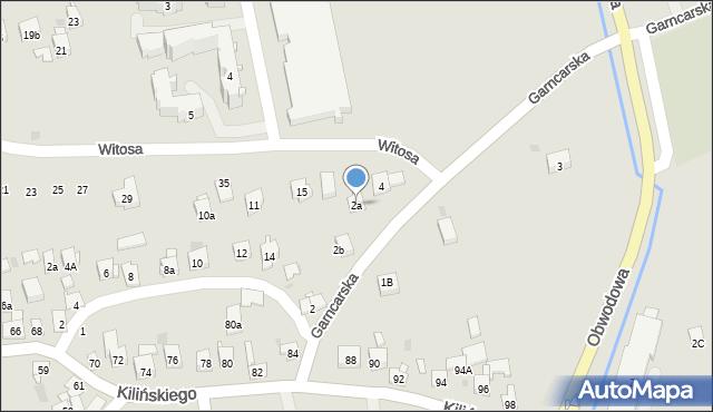 Dobczyce, Garncarska, 2a, mapa Dobczyce