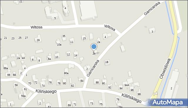 Dobczyce, Garncarska, 2b, mapa Dobczyce
