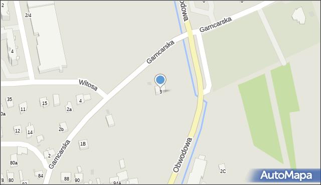 Dobczyce, Garncarska, 3, mapa Dobczyce