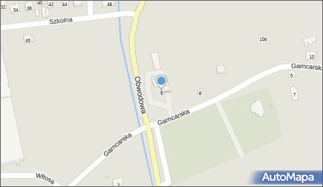 Dobczyce, Garncarska, 6, mapa Dobczyce
