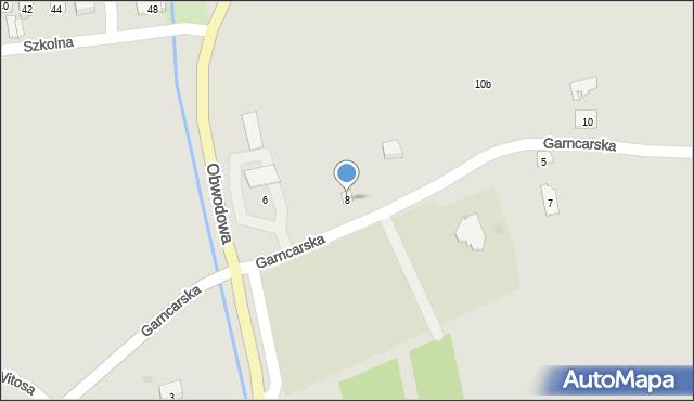 Dobczyce, Garncarska, 8, mapa Dobczyce