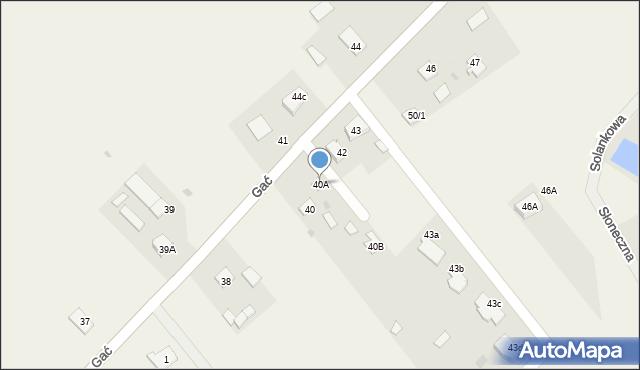 Gać, Gać, 40A, mapa Gać