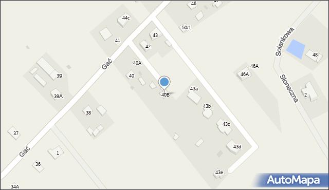 Gać, Gać, 40B, mapa Gać