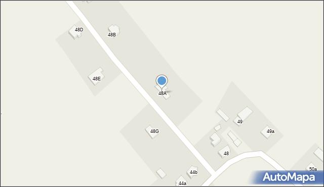 Gać, Gać, 48A, mapa Gać